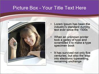 Woman Holding Car Keys PowerPoint Template - Slide 13