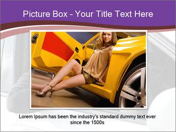 Woman Holding Car Keys PowerPoint Template - Slide 16
