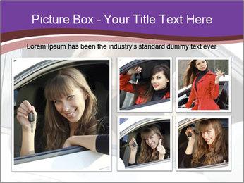 Woman Holding Car Keys PowerPoint Template - Slide 19