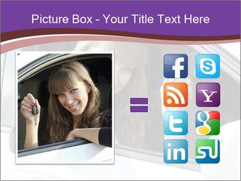 Woman Holding Car Keys PowerPoint Template - Slide 21