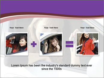 Woman Holding Car Keys PowerPoint Template - Slide 22