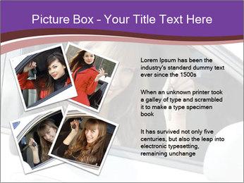 Woman Holding Car Keys PowerPoint Template - Slide 23