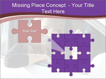 Woman Holding Car Keys PowerPoint Template - Slide 45