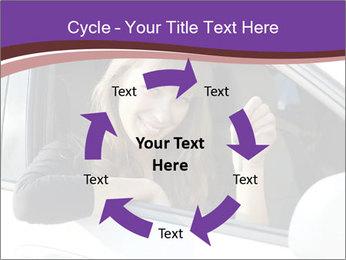 Woman Holding Car Keys PowerPoint Template - Slide 62