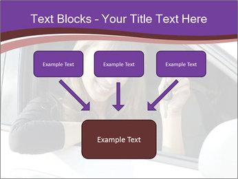 Woman Holding Car Keys PowerPoint Template - Slide 70