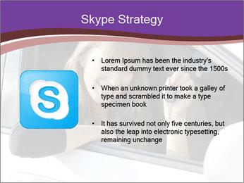Woman Holding Car Keys PowerPoint Template - Slide 8