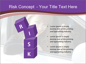 Woman Holding Car Keys PowerPoint Template - Slide 81