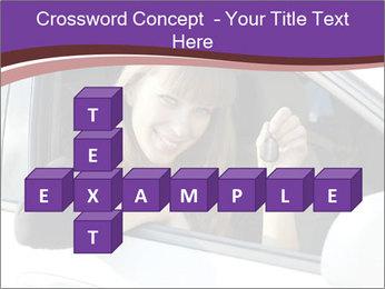 Woman Holding Car Keys PowerPoint Template - Slide 82