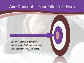 Woman Holding Car Keys PowerPoint Template - Slide 83