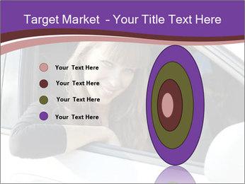 Woman Holding Car Keys PowerPoint Template - Slide 84