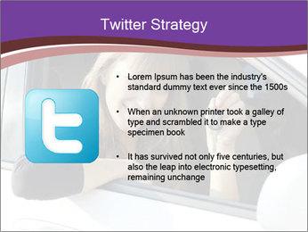 Woman Holding Car Keys PowerPoint Template - Slide 9