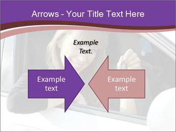 Woman Holding Car Keys PowerPoint Template - Slide 90