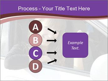 Woman Holding Car Keys PowerPoint Template - Slide 94