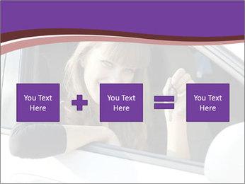 Woman Holding Car Keys PowerPoint Template - Slide 95