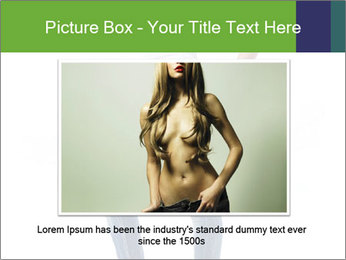 Girl Showing New Skinny Jeans PowerPoint Template - Slide 15