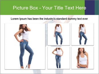 Girl Showing New Skinny Jeans PowerPoint Template - Slide 19