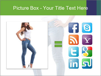 Girl Showing New Skinny Jeans PowerPoint Template - Slide 21
