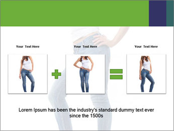 Girl Showing New Skinny Jeans PowerPoint Template - Slide 22