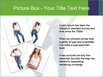 Girl Showing New Skinny Jeans PowerPoint Template - Slide 23