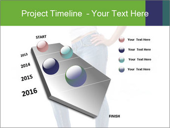 Girl Showing New Skinny Jeans PowerPoint Template - Slide 26