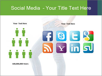 Girl Showing New Skinny Jeans PowerPoint Template - Slide 5