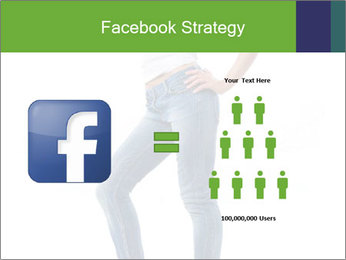 Girl Showing New Skinny Jeans PowerPoint Template - Slide 7