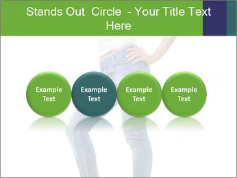 Girl Showing New Skinny Jeans PowerPoint Template - Slide 76
