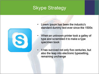 Girl Showing New Skinny Jeans PowerPoint Template - Slide 8
