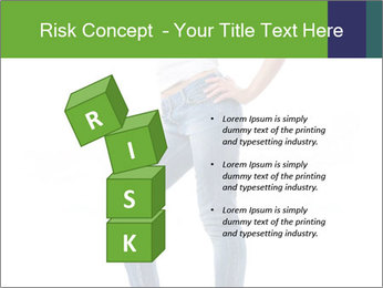Girl Showing New Skinny Jeans PowerPoint Template - Slide 81