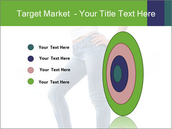 Girl Showing New Skinny Jeans PowerPoint Template - Slide 84