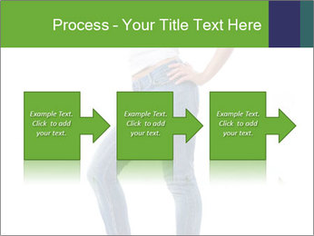 Girl Showing New Skinny Jeans PowerPoint Template - Slide 88