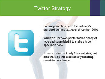 Girl Showing New Skinny Jeans PowerPoint Template - Slide 9