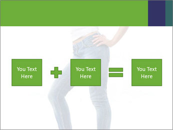 Girl Showing New Skinny Jeans PowerPoint Template - Slide 95