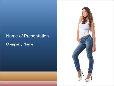 attractive denim look powerpoint template amp backgrounds id