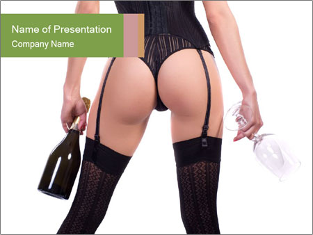 Lingerie for Special Dinner PowerPoint Template