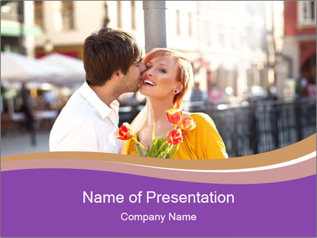 Romantic Kiss PowerPoint Templates