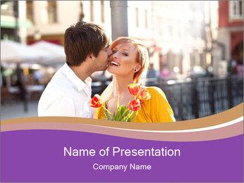 Romantic Kiss PowerPoint Templates - Slide 1