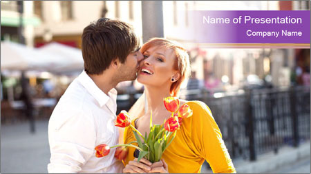 Romantic Kiss PowerPoint Template