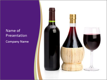 Sweet Red Wine PowerPoint Templates - Slide 1
