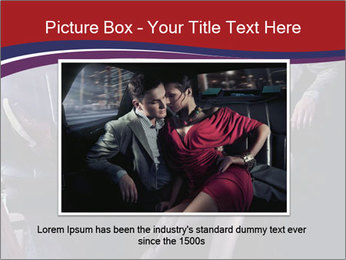 Couple Sitting in Limo PowerPoint Template - Slide 15