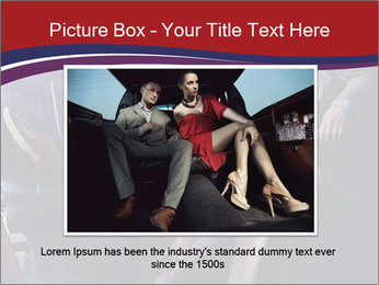 Couple Sitting in Limo PowerPoint Template - Slide 16
