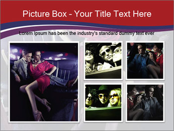 Couple Sitting in Limo PowerPoint Template - Slide 19