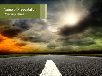 Empty Road in Countryside Area PowerPoint Template