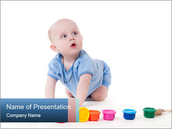 Baby Artist PowerPoint Template