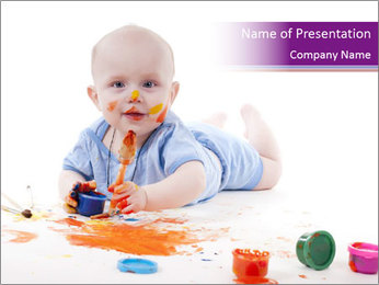 Baby Painting PowerPoint Template
