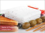 Toast with Feta and Olives PowerPoint Templates
