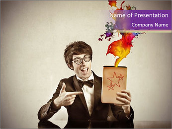 Magic Ads PowerPoint Template - Slide 1