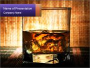 Glass of Strong Brandy PowerPoint Templates