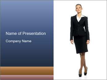 Female Business Clothing PowerPoint Template - Slide 1