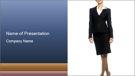 Female Business Clothing PowerPoint Template